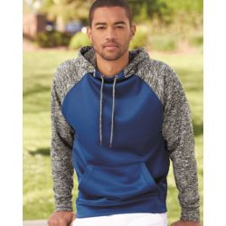 8612 Colorblock Cosmic Fleece Hooded Pullover Sweatshirt Thumbnail